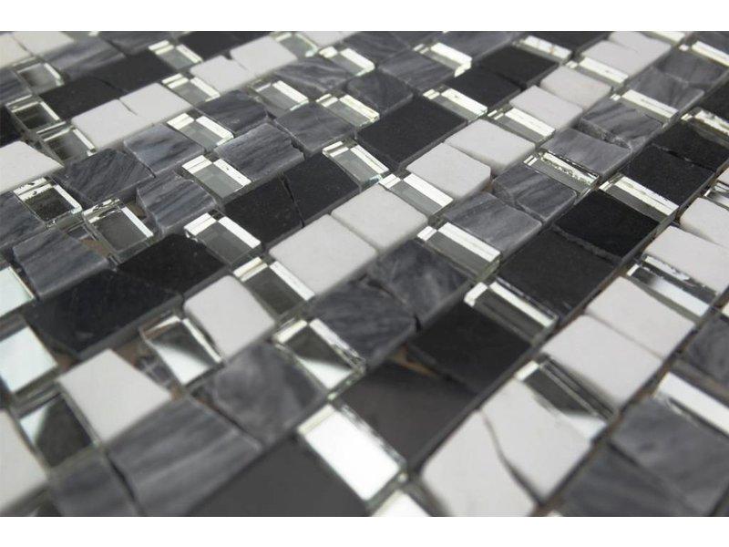 bunte mosaikfliesen wei grau mix mm5 mosaic outlet. Black Bedroom Furniture Sets. Home Design Ideas