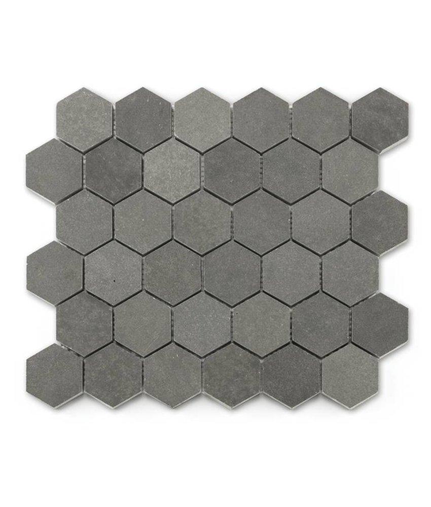 Naturstein Mosaikfliesen Basalt BM-15001 ash grey