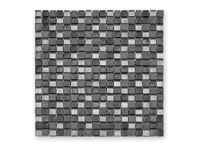 BÄRWOLF Materialmix-Mosaikfliese Fineline GL-12007 grey mix