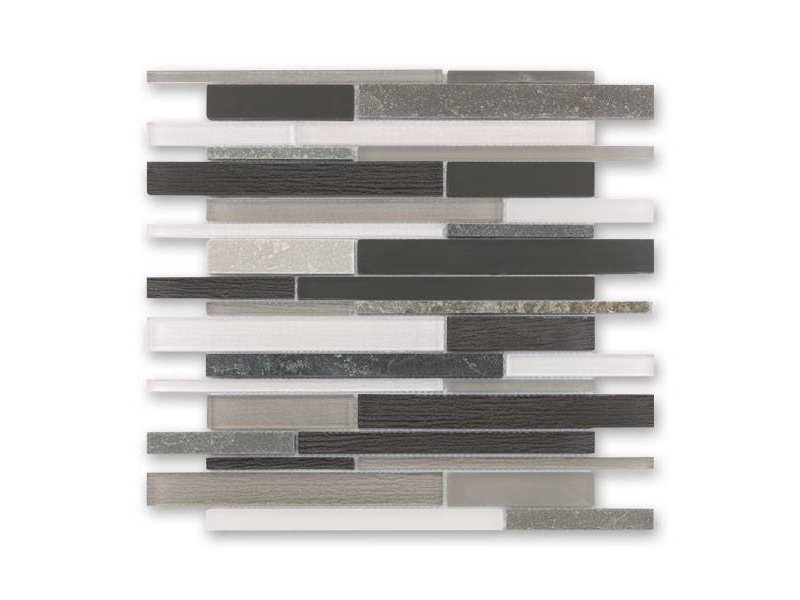 BÄRWOLF Materialmix-Mosaikfliese New York GL-14010 grey mix