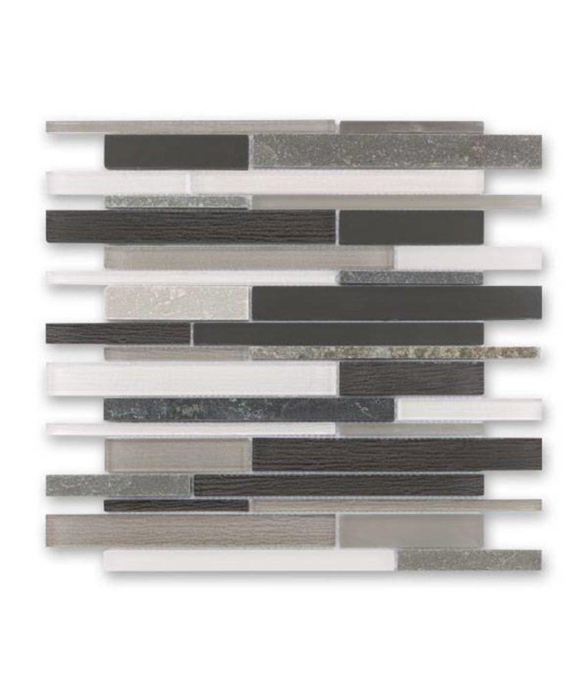 Materialmix-Mosaikfliese New York GL-14010 grey mix