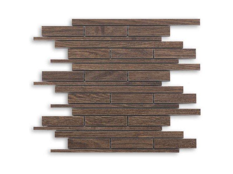 BÄRWOLF Keramik Mosaikfliese Wood KEG-14055 oak brown