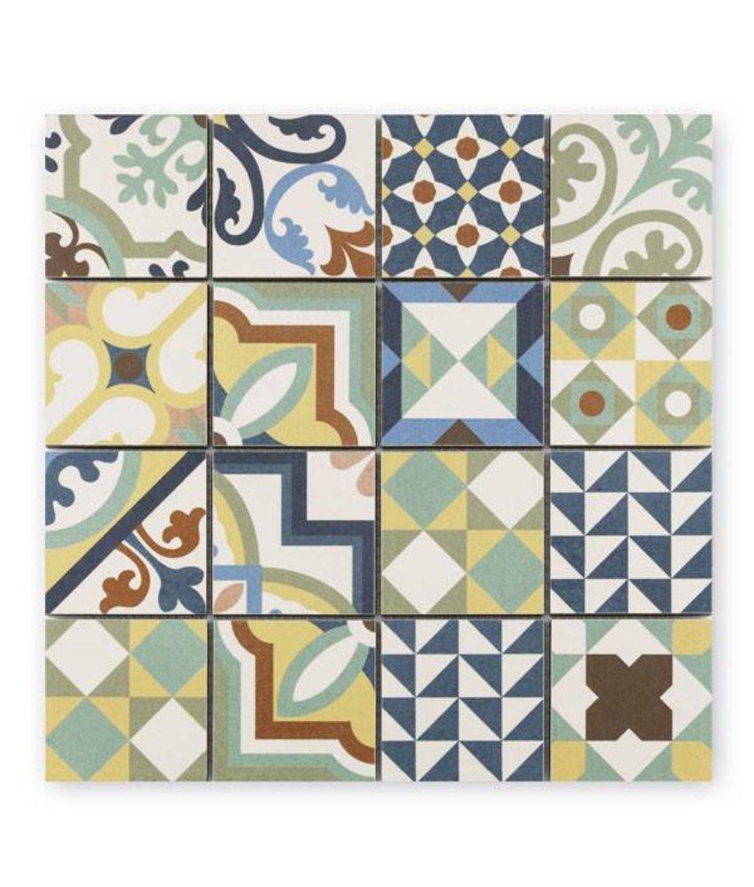 Trittsichere Keramik Mosaikfliese Patchwork KEG-14071 mix