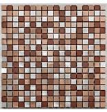 BÄRWOLF Aluminium-Mosaikfliese Pixel MB-1310 coffee mix