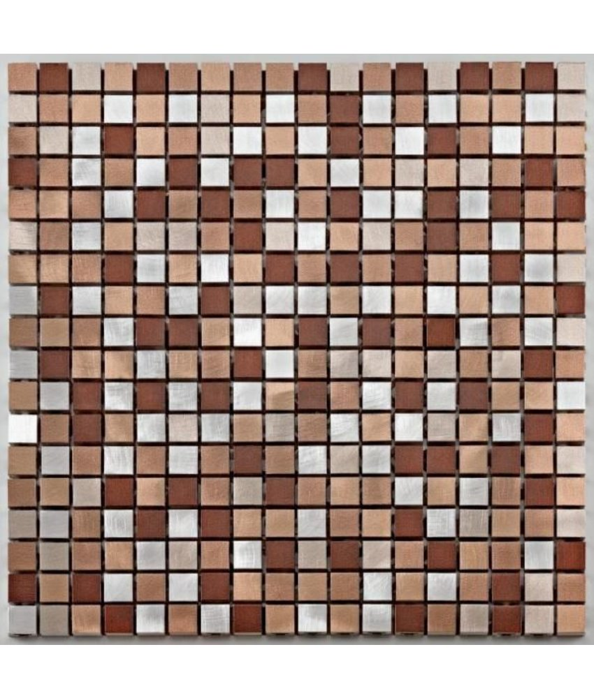 Aluminium-Mosaikfliese Pixel MB-1310 coffee mix