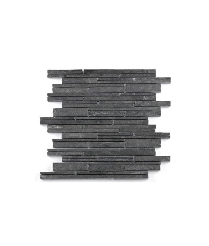 Naturstein Mosaikfliesen Nature CM-14009 black