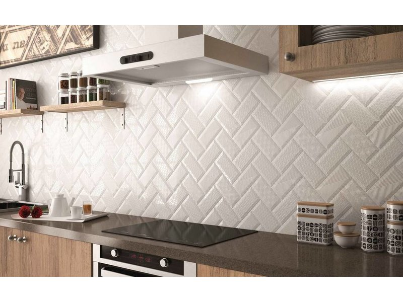 b rwolf ambience metro ke 15050 wei strukturiert mosaic. Black Bedroom Furniture Sets. Home Design Ideas