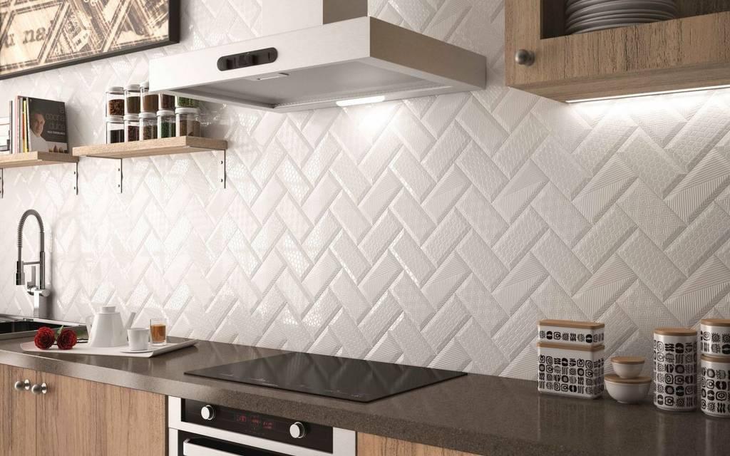 BÄRWOLF Ambience Metro KE-15050 weiß strukturiert - Mosaic Outlet