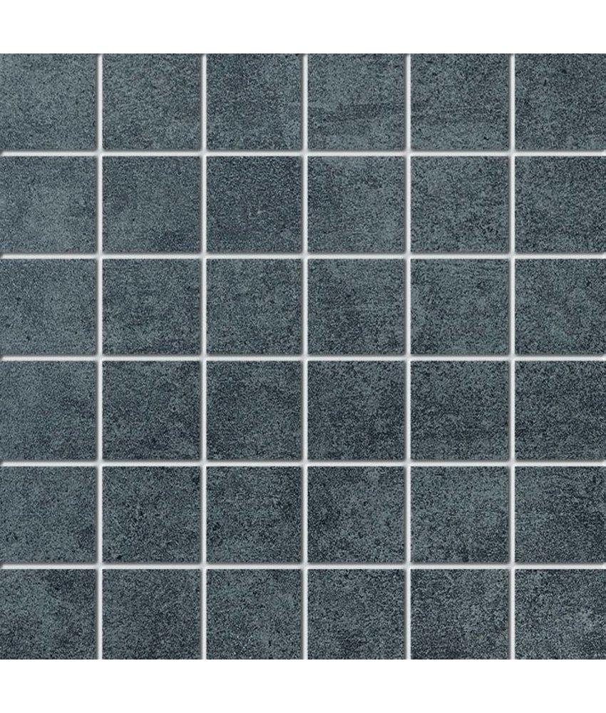 Mosaikfliese Enduro END7150 anthrazit 5x5 cm - auf Netz 30x30 cm