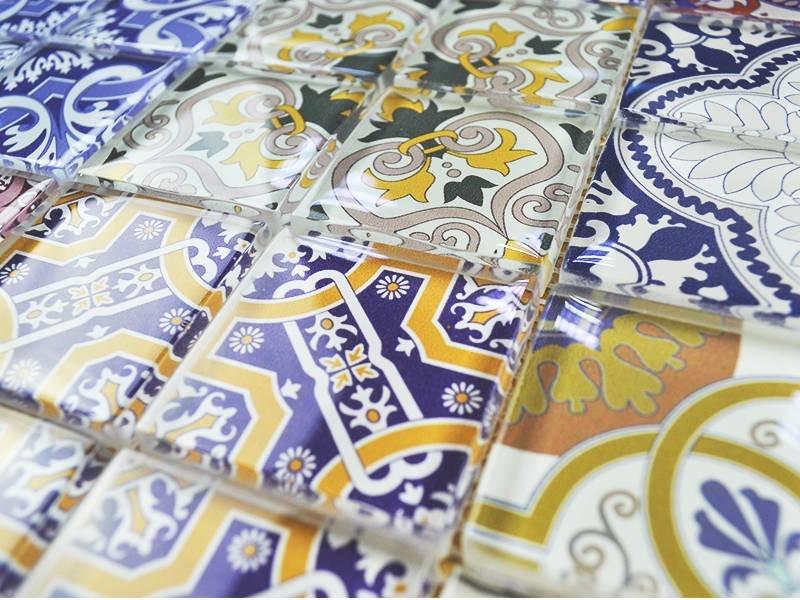 GLASMOSAIK FLIESEN - Patchwork multicolor - bunt - Mosaic ...