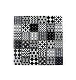 GLASMOSAIK FLIESEN - Patchwork Black - schwarz/weiss