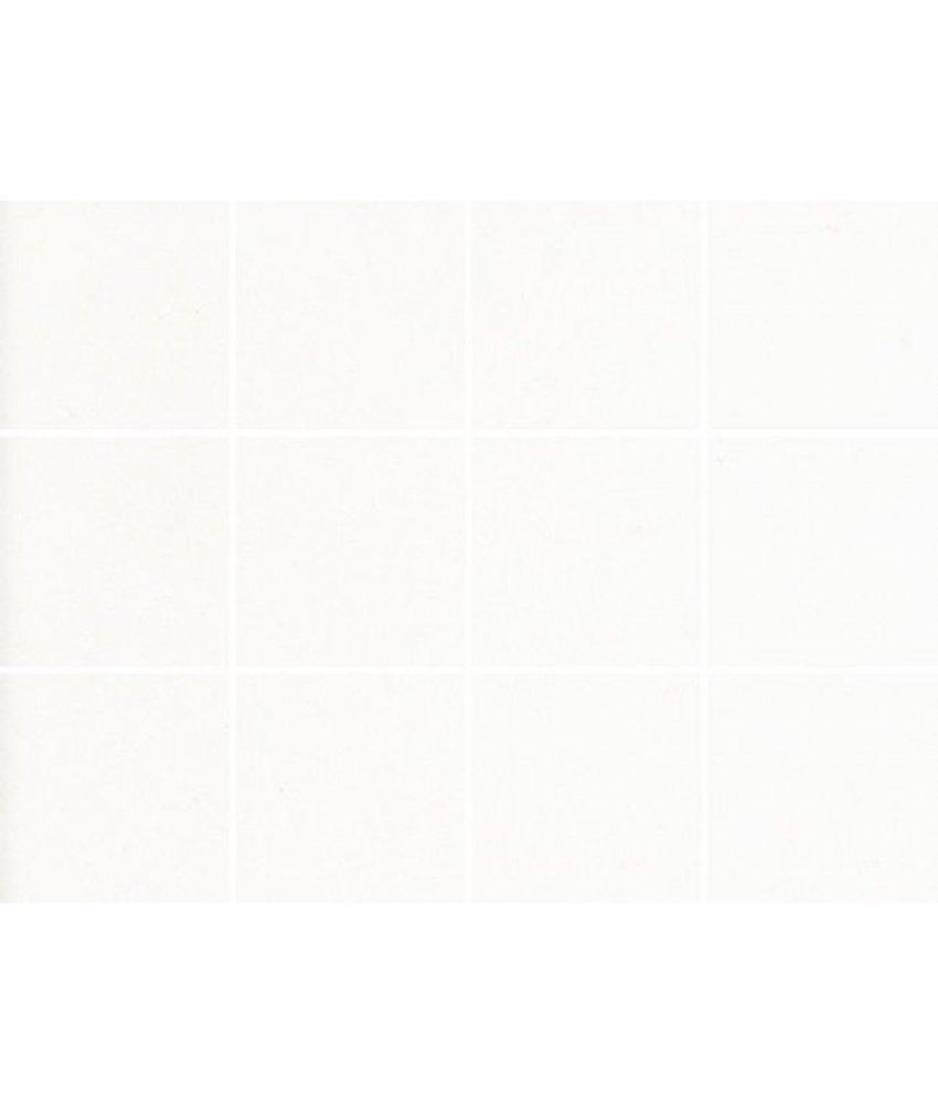 Steinzeug-Mosaik Caldero 1010271D Weiß Matt, 10x10, Glasiert, R10/B, Abr. IV - 30x40 cm