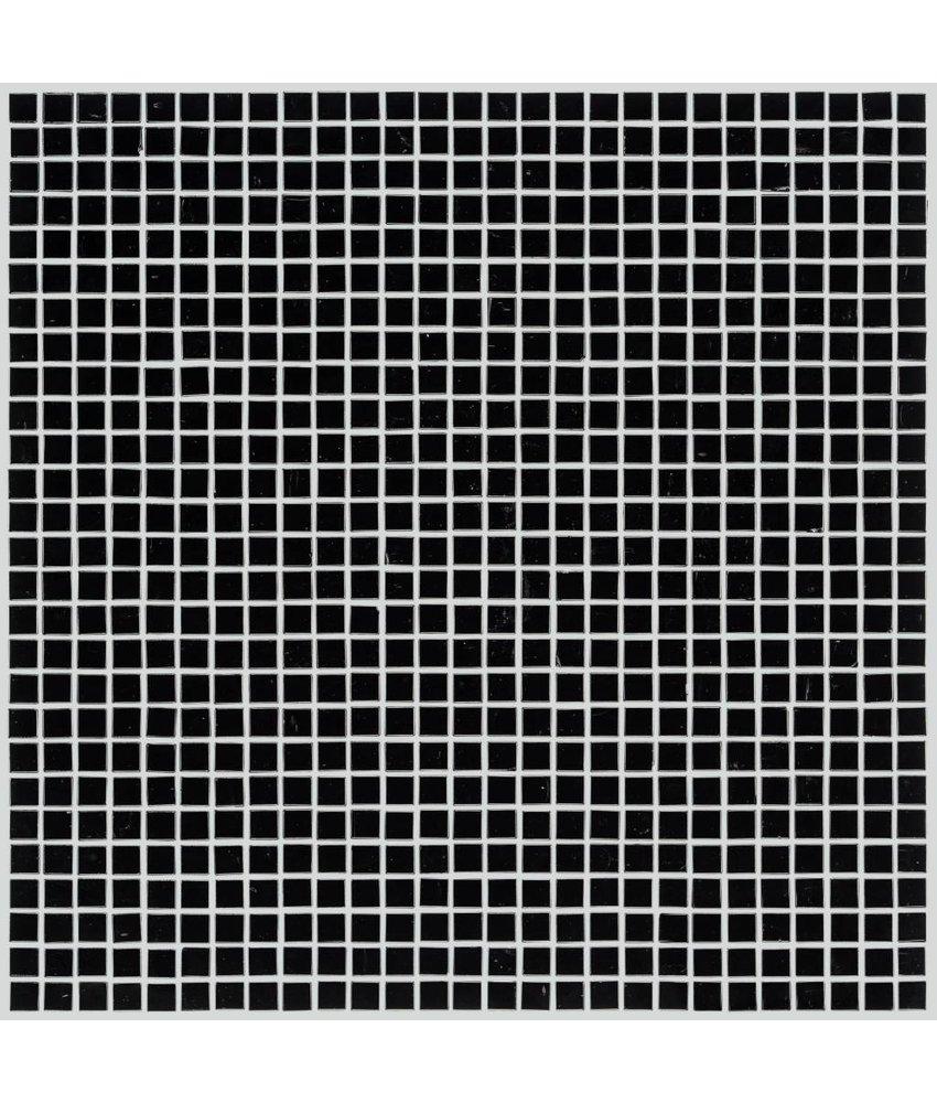 Glasmosaik Mini Black, glänzend - 30x30cm