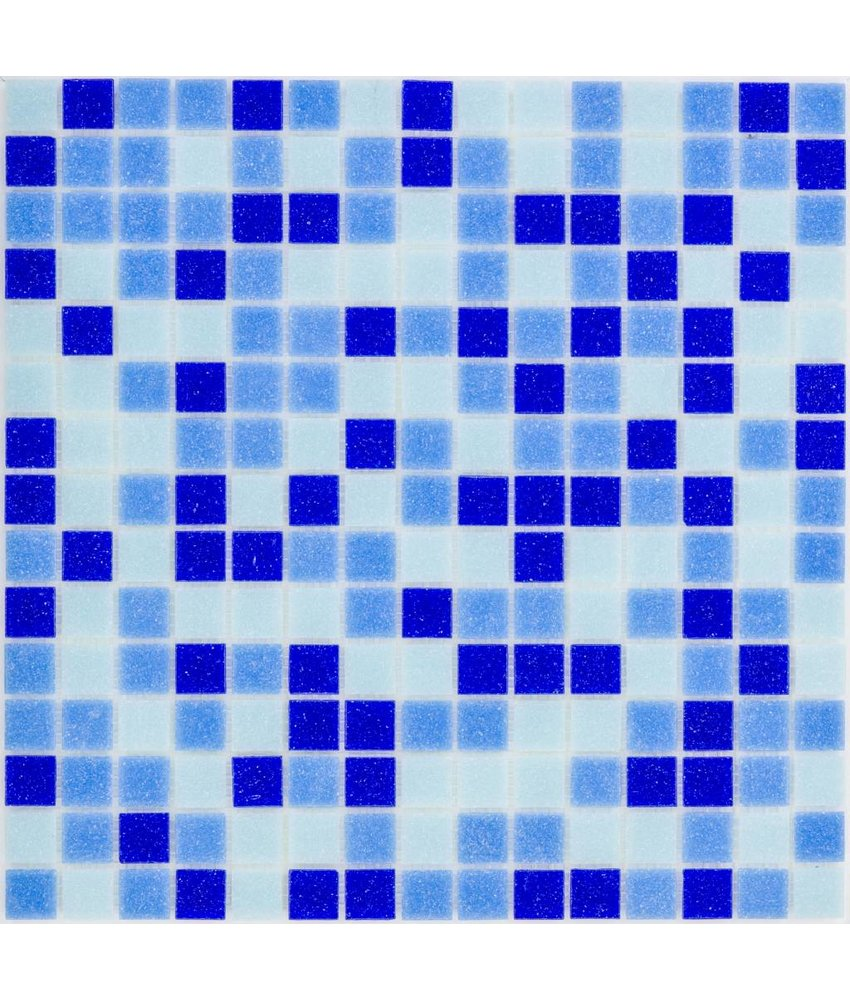 Glasmosaik Blau Mix dark - 33x33cm