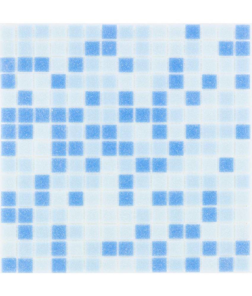 Glasmosaik Blau Mix light - 33x33cm