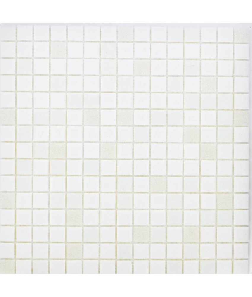 Glasmosaik White Mix - 33x33cm