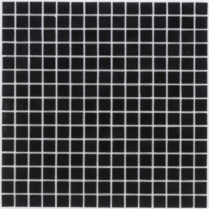 Glasmosaik Schwarz - 33cm x 33cm
