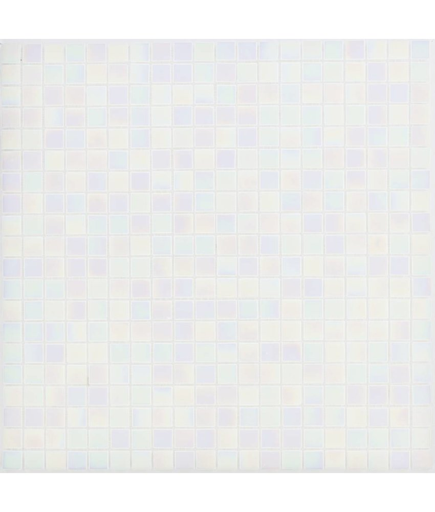Glasmosaik Perlmutt Weiß - 33cm x 33cm