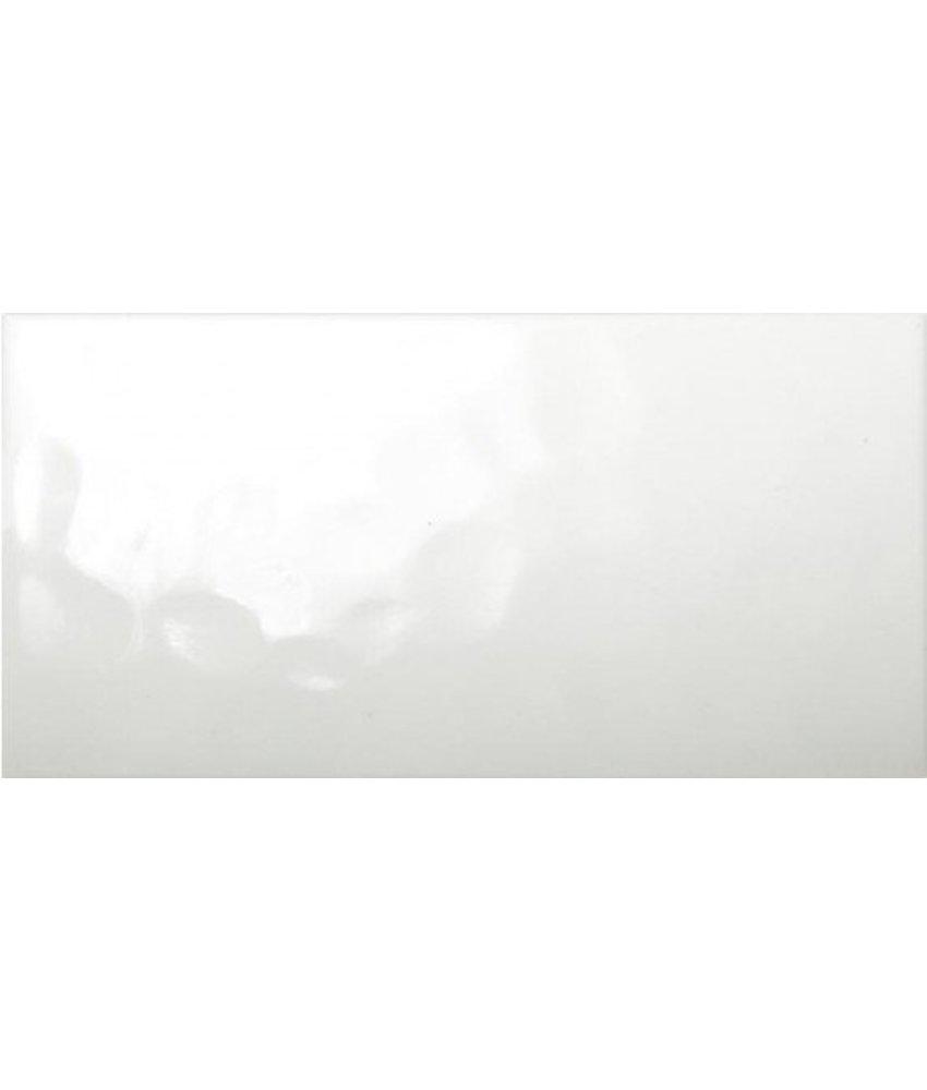 Wandfliesen nicht rektifiziert - weiß gewellt glänzend - 30,6x60,6 cm
