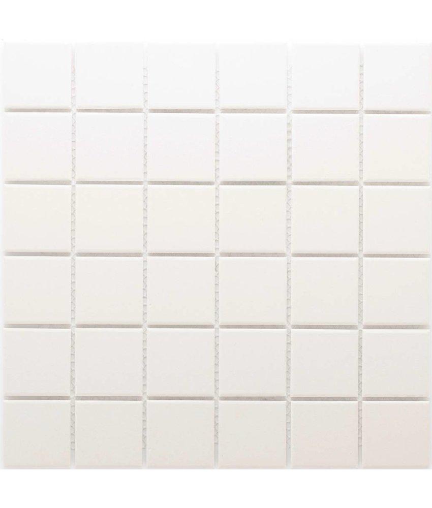 Feinsteinzeugmosaik Weiß - 30 cm x 30 cm