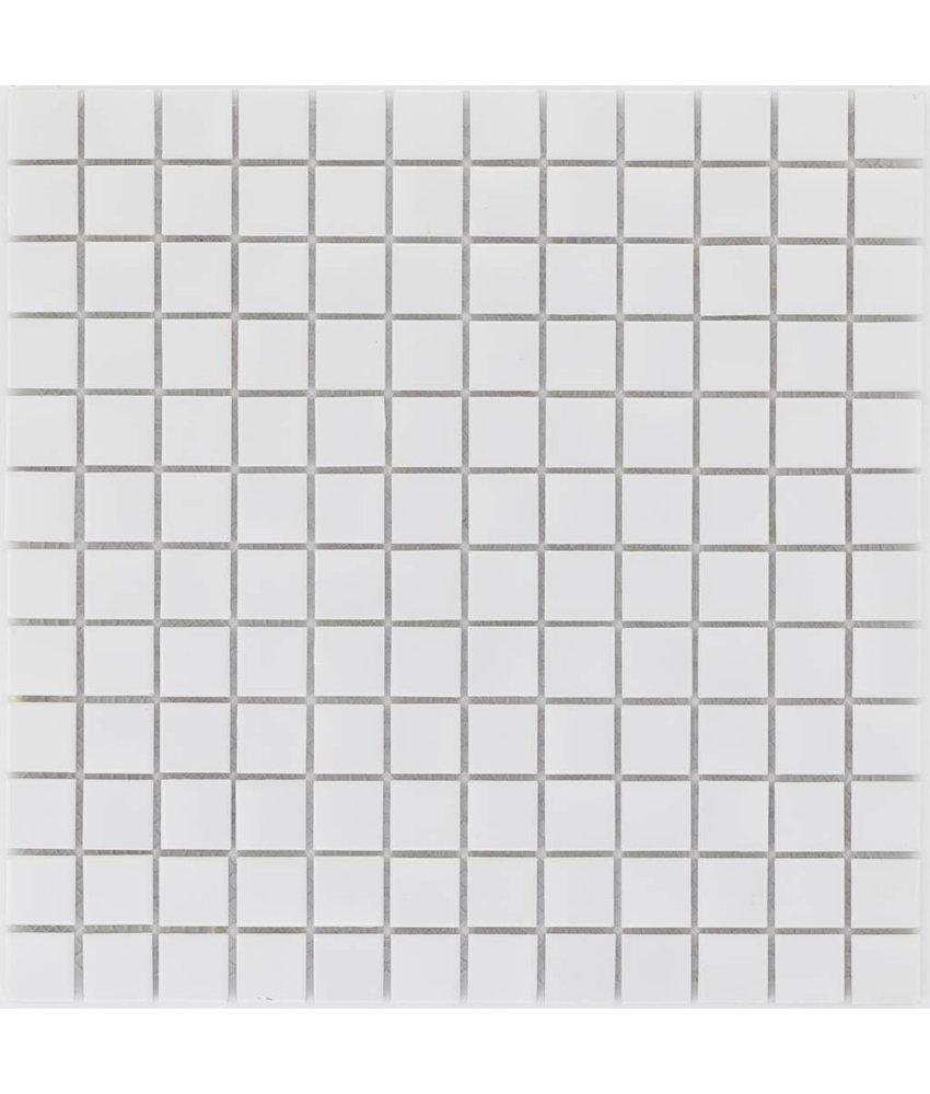 Keramik Mosaikfliese Weiß, glänzend - 33 cm x 33 cm