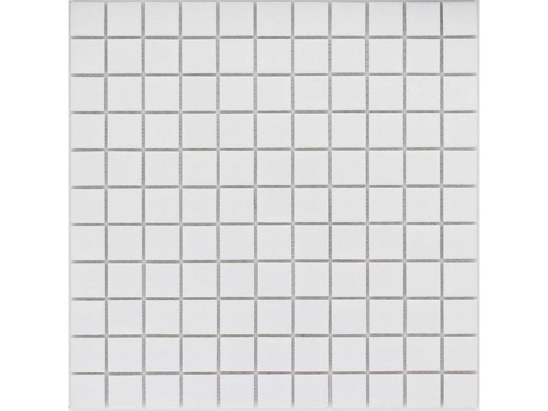 Mosaikfliesen Weiß keramik mosaikfliese weiß matt 30 2 cm x 30 2 cm mosaic outlet