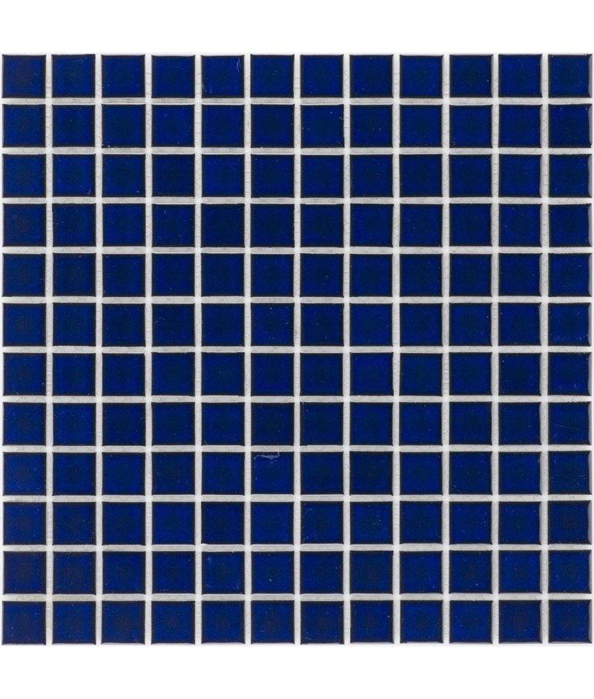 Keramik Mosaikfliese Cobaltblau, glänzend - 33 cm x 33 cm