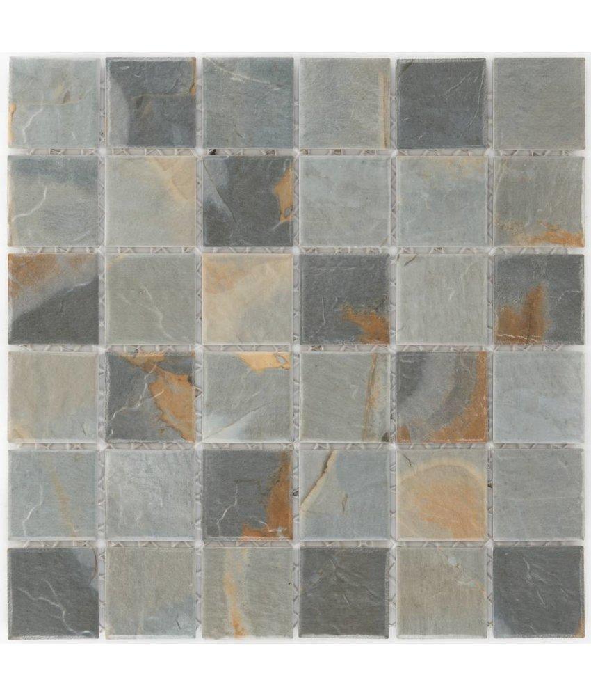 Keramik Mosaikfliese Ardesia Slate, matt - 29,7 cm x 29,7 cm