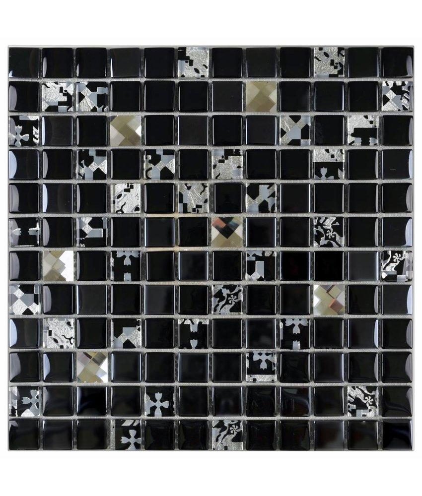 Glasmosaik Vintage Retro Crystal, glänzend - 30 cm x 30 cm