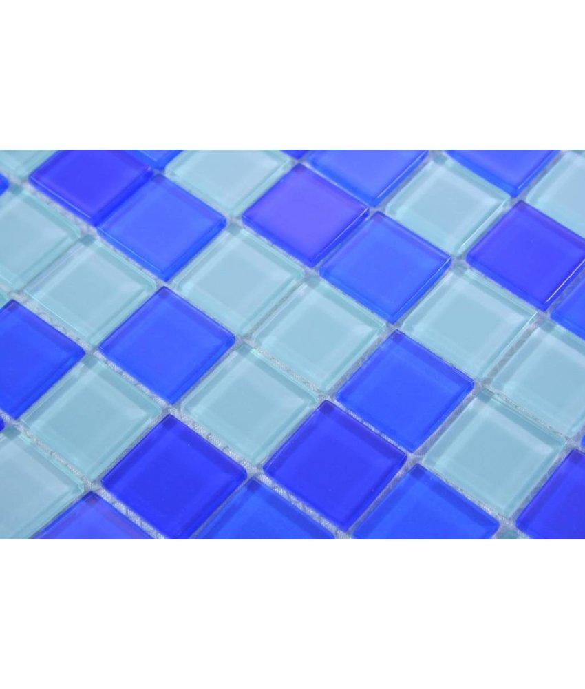 GLASMOSAIK FLIESEN - Oia - blau mix