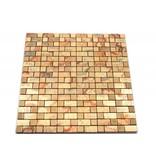 SELBSTKLEBENDE MOSAIKFLIESEN - Tomsk - gold gemustert
