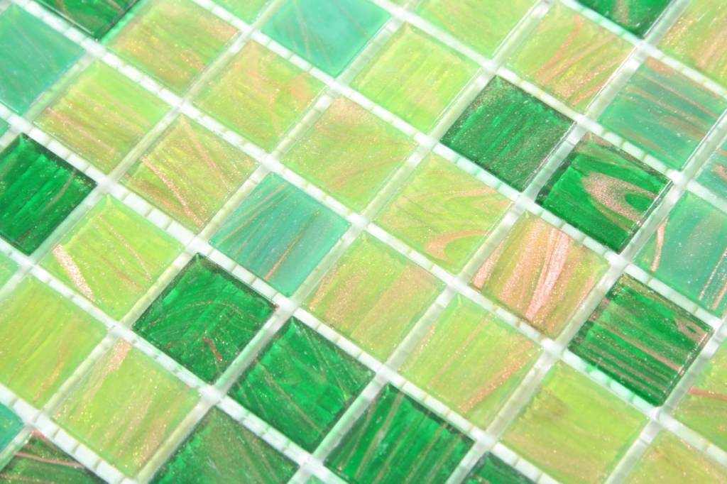 Glasmosaik Fliesen London Grun Gold Kupfer Mosaic Outlet