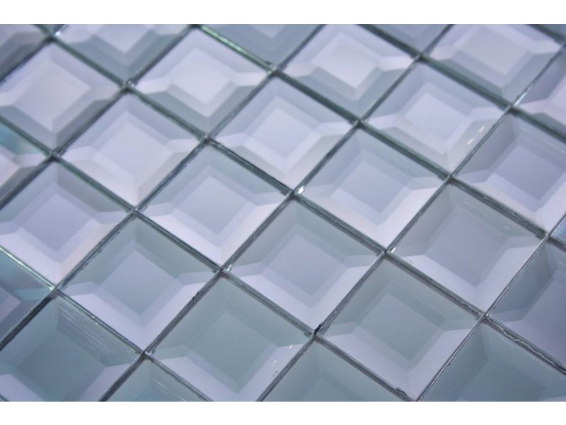 Glasmosaik Fliesen Berlin Grau Silber Mosaic Outlet