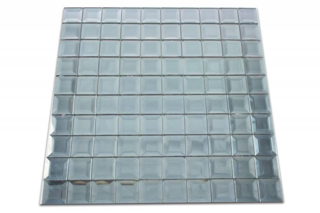 GLASMOSAIK FLIESEN Berlin Grau Silber Mosaic Outlet - Fliesen billig berlin