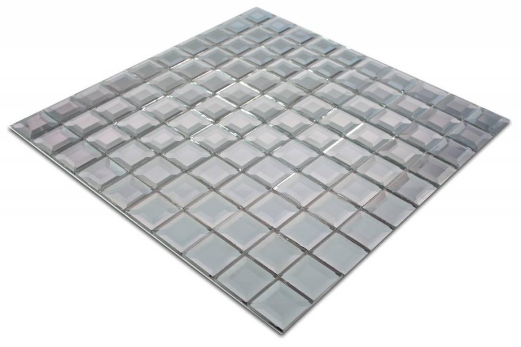 GLASMOSAIK FLIESEN Berlin Grau Silber Mosaic Outlet - Fliesen outlet berlin