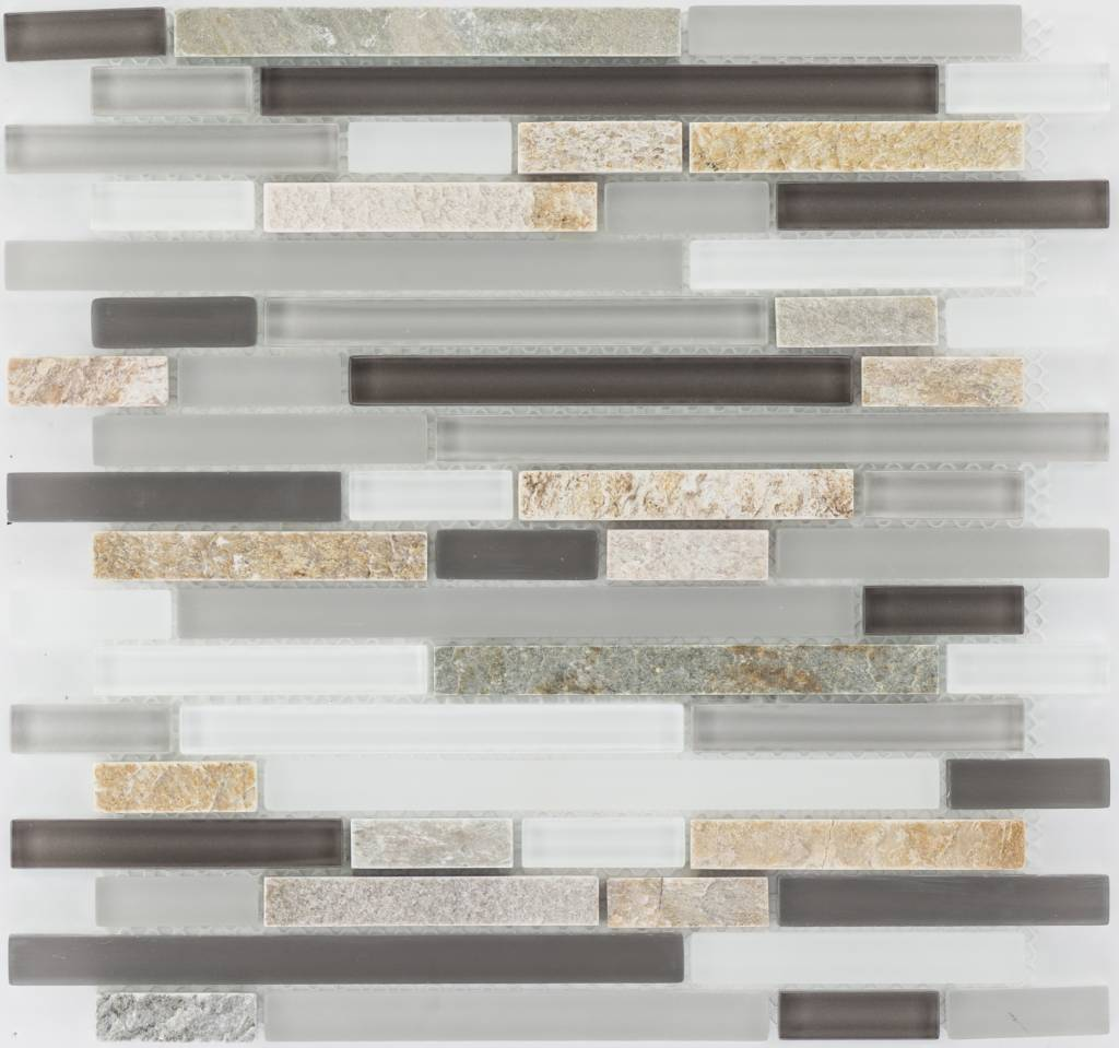 Mosaik Glas U0026 Marmor Beige Braun Grau Weiß   30 Cm X ...