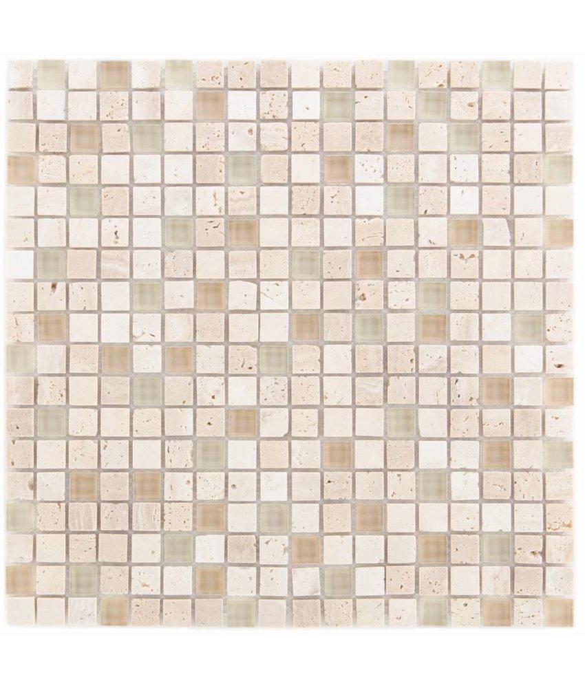 Mosaik Glas & Marmor  Combi Cream 30 x 30 cm