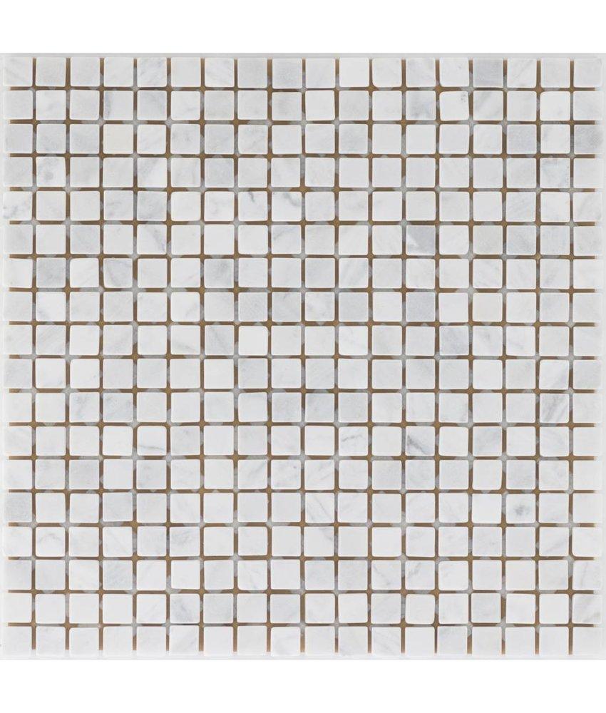 Mosaikfliese Naturstein White Wave - 30,5 cm x 30,5 cm