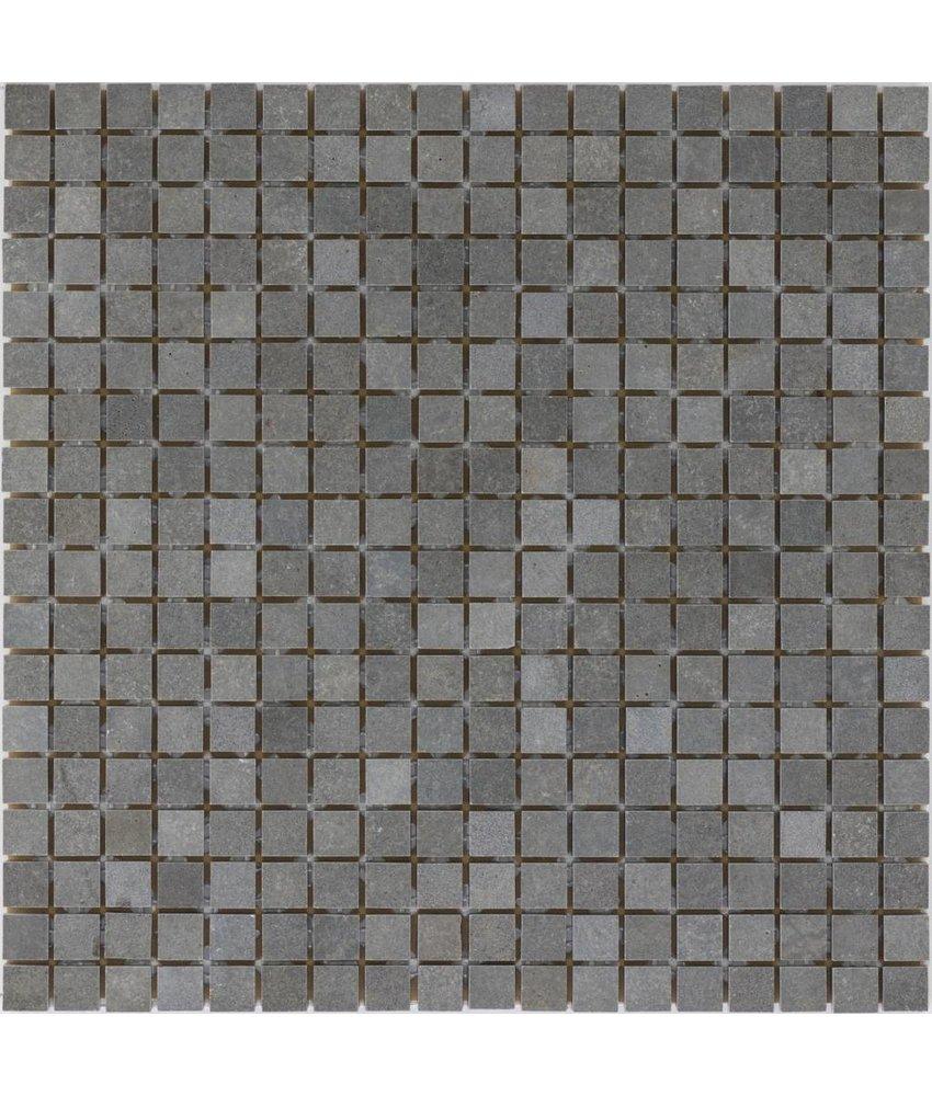 Mosaikfliese Naturstein Basalt Anthrazit - 30,5 cm x 30,5 cm