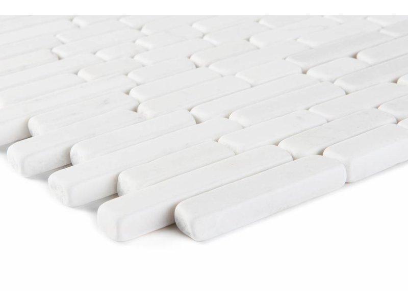Mosaikfliese Marmor Carrara White -  30,5 cm x 30,5 cm
