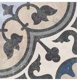 Bodenfliese Vintage Heidelberg Dekor 13 - 18,6 cm x 18,6 cm