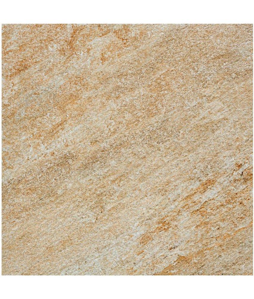 Terrassenplatte Feinsteinzeug Manhattan Beige - 60 cm x 60 cm