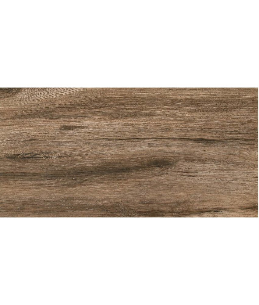 Terrassenplatte Feinsteinzeug Strobus Ebony Holzoptik - 45 cm x 90 cm