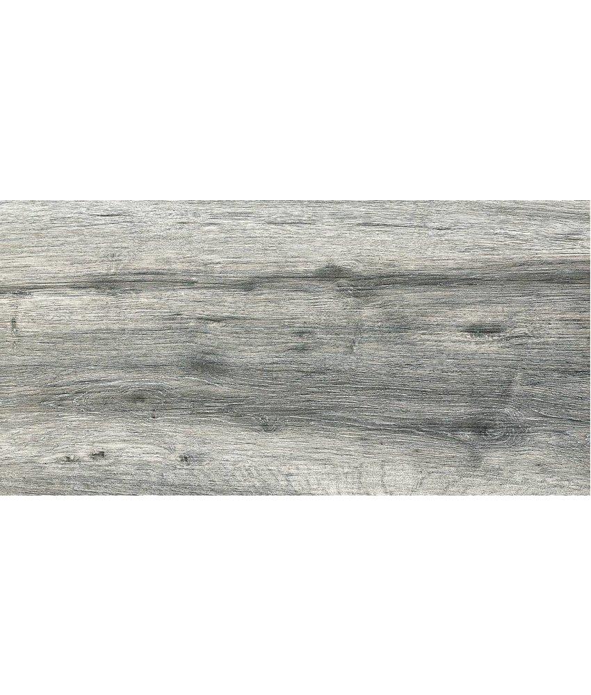 Terrassenplatte Feinsteinzeug Strobus Grey Holzoptik - 45 cm x 90 cm