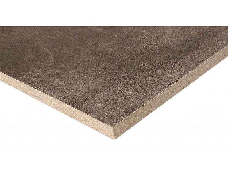 Terrassenplatte Feinsteinzeug Stark Taupe - 60 cm x 60 cm
