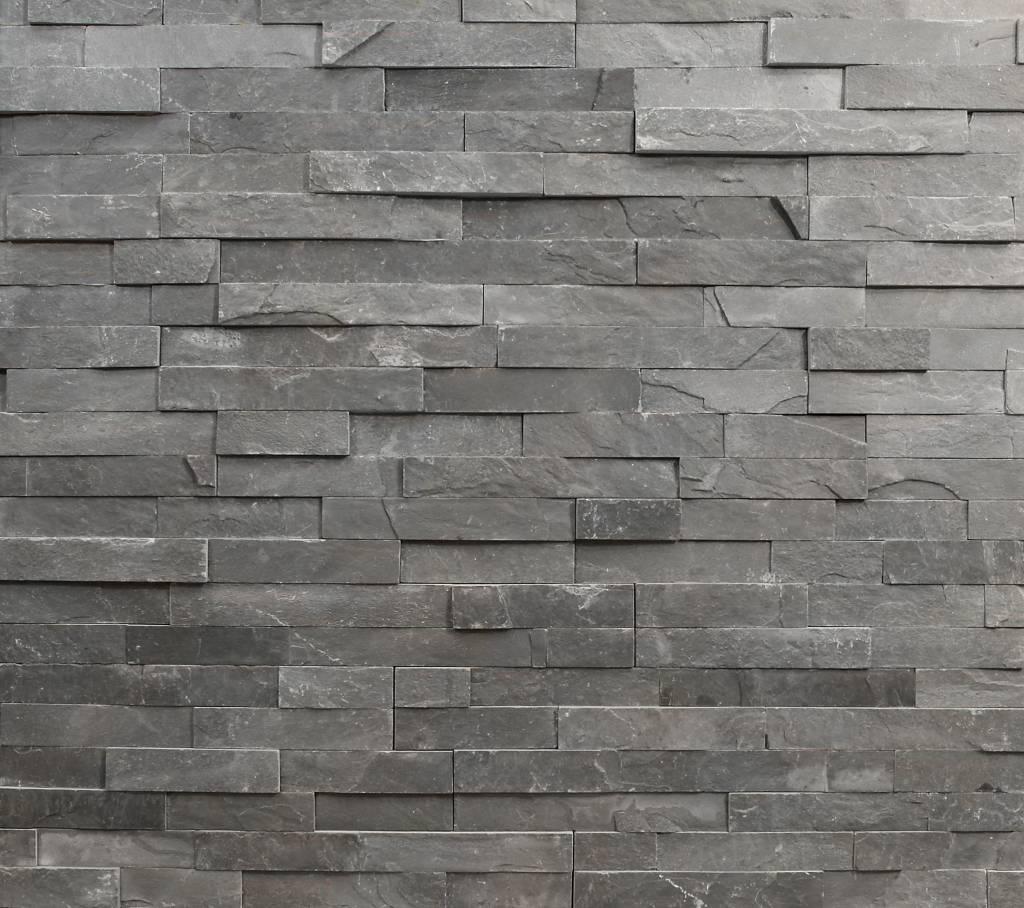 Wandverblender naturstein schiefer schwarz 15 cm x 60 cm for Wandverblender naturstein