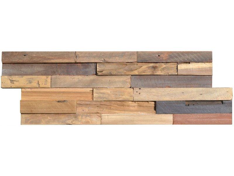 Wandverblender Holz Colorado Teak - 15 cm x 60 cm