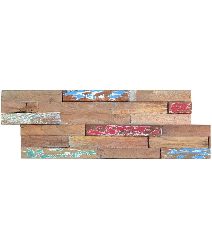 Wandverblender Holz Painted Teak - 15 cm x 60 cm