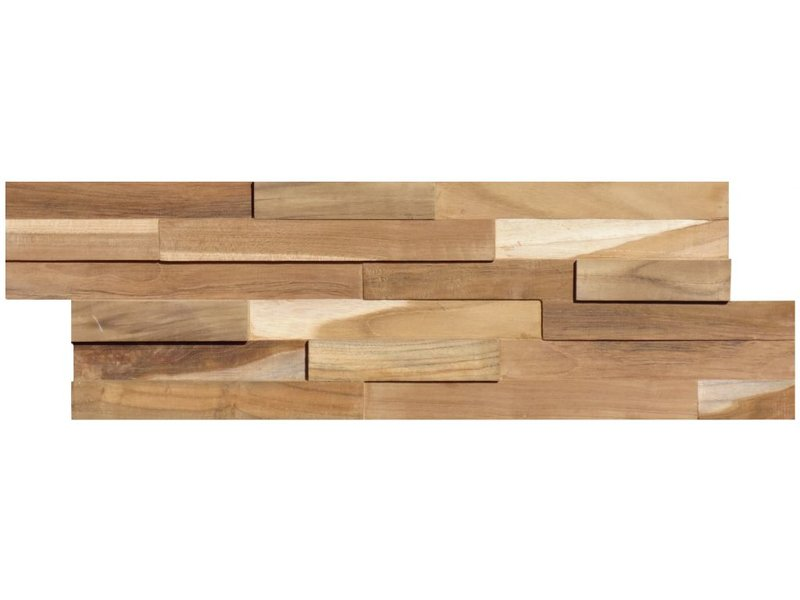 Wandverblender Holz Natur - 15 cm x 60 cm