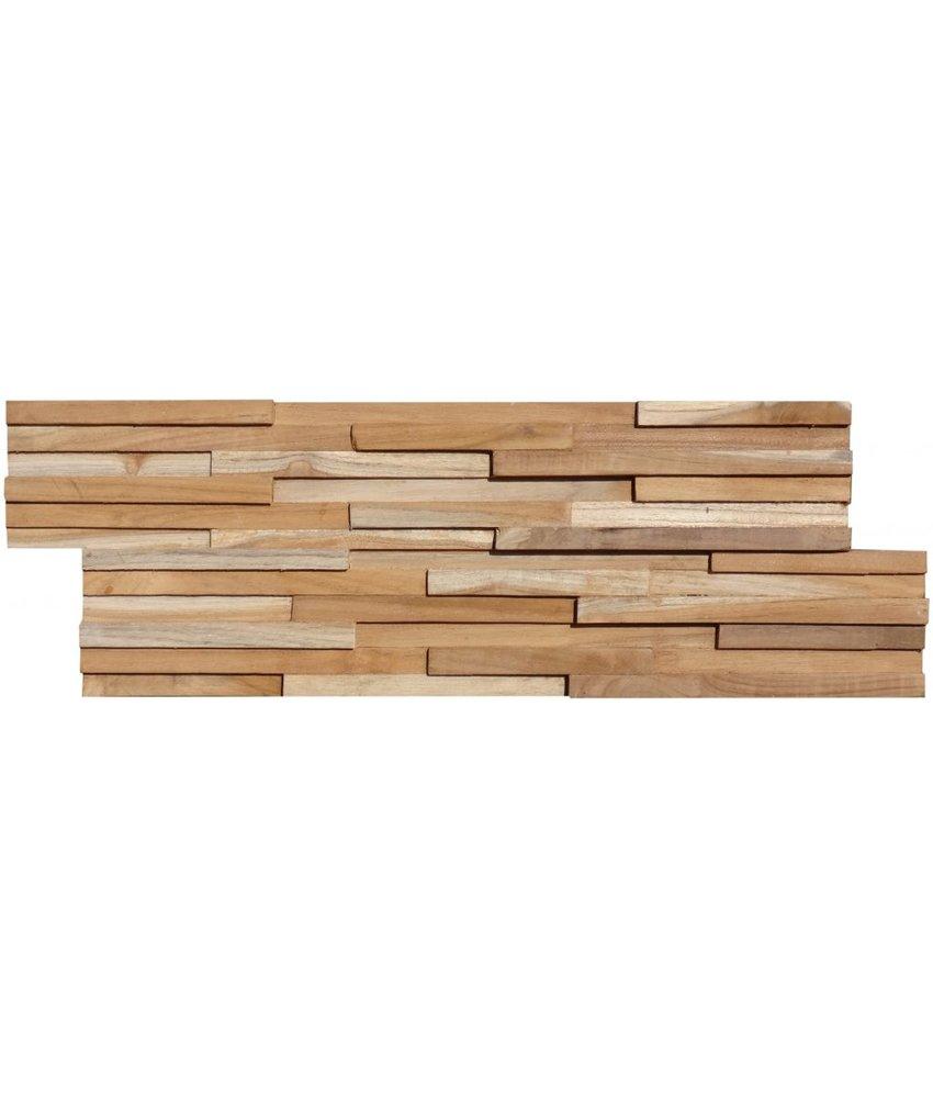 Wandverblender Holz Natur Slim - 15 cm x 60 cm